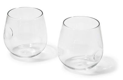 Hand-Blown Red Wine Glass