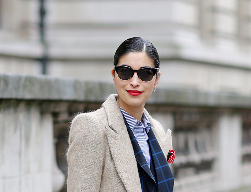 Mandatory Credit: Photo by Silvia Olsen/REX/Shutterstock (4448534ay) Caroline Issa Street Style at Autumn Winter 2015, London Fashion Week, Britain - 22 Feb 2015
