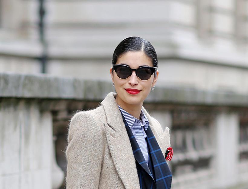 Mandatory Credit: Photo by Silvia Olsen/REX/Shutterstock (4448534ay) Caroline Issa Street Style at Autumn Winter 2015, London Fashion Week, Britain - 22 Feb 2015