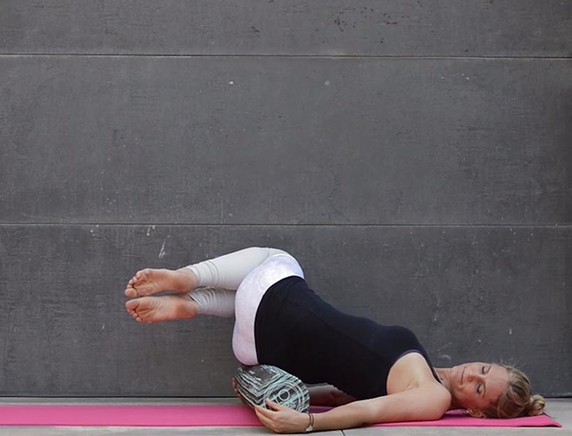 11. Inverted Sacral Roll Spine Twist