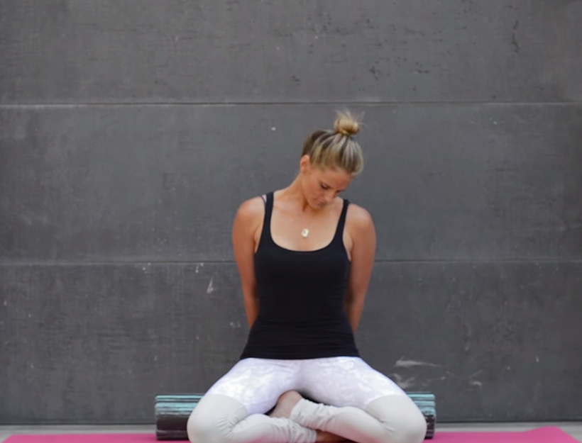 3. Seated Neck Stretch