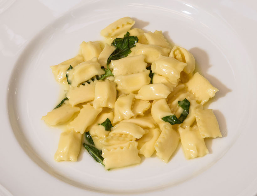 Sweet Corn Agnolotti with Basil Butter