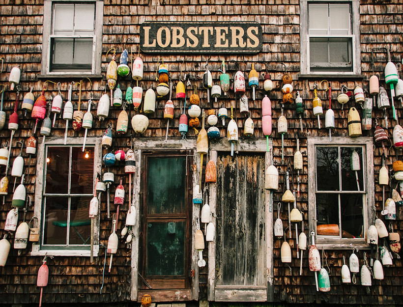 Lobster Buoys on Shack Bristol, Maine