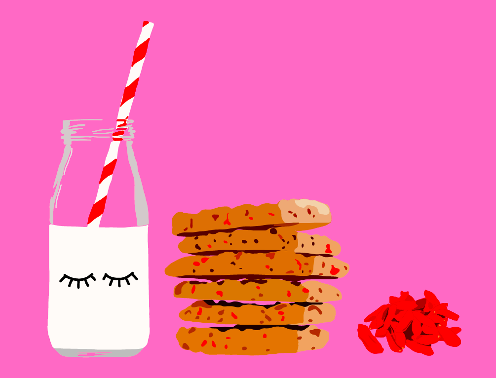 Oatmeal Cookies with Goji Berries