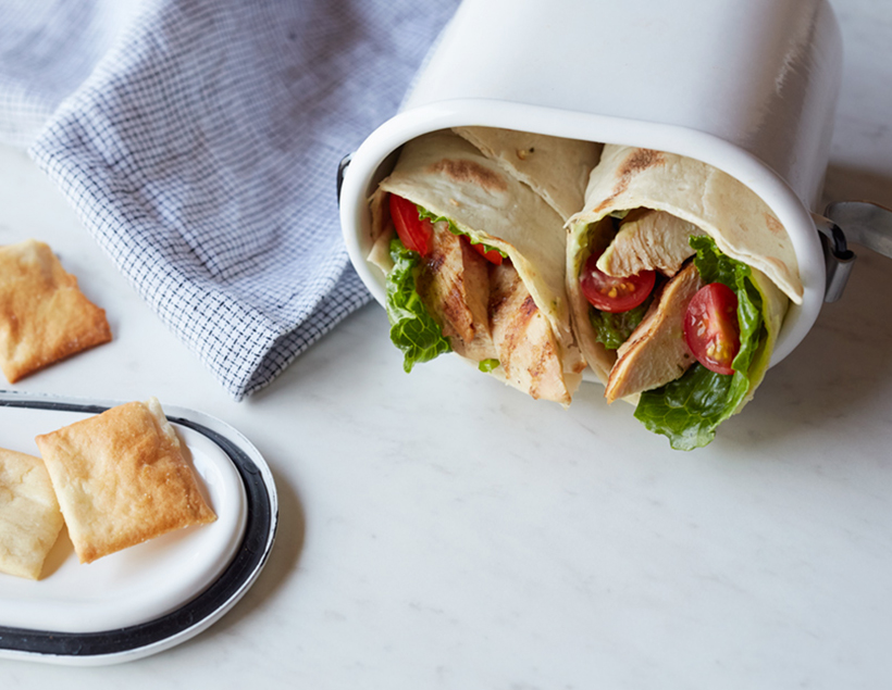 grilled chicken wrap with basil mayo