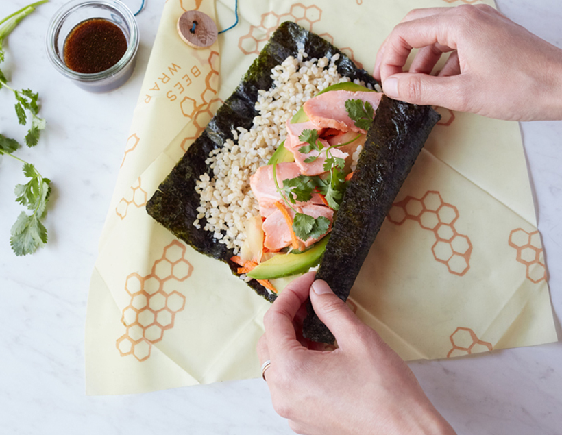 Salmon Sushi Burrito