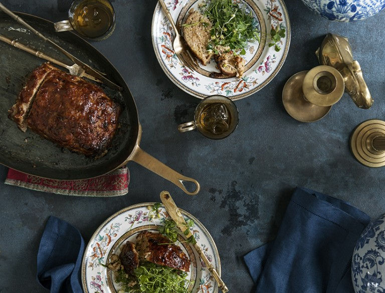 Hoisin-Glazed Pork and Turkey Meatloaf