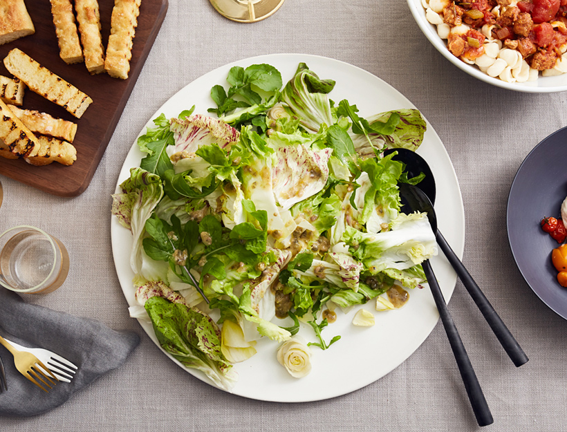 Chicory Salad with Caper and Anchovy Dressing