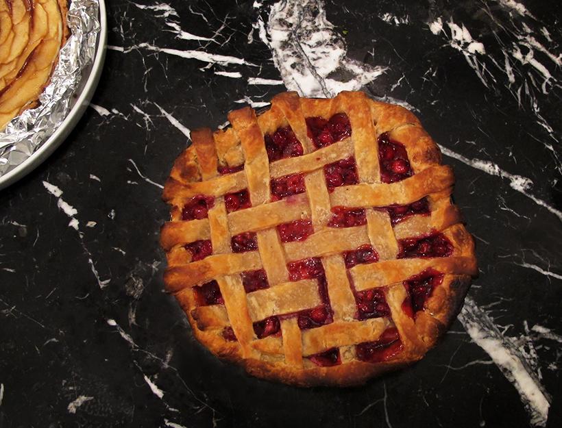Cranberry-Cherry Pie
