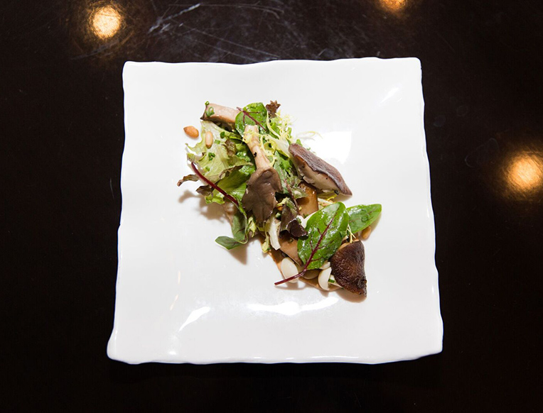 Pine Nut and Mushroom Salad