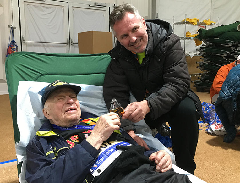 World War II Marine, 96, Finishes Marathon with Shot of Scotch