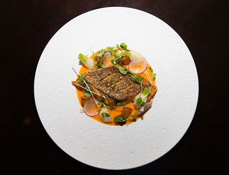Florida Red Snapper with Chili-Garlic Sauce and Crispy Potatoes