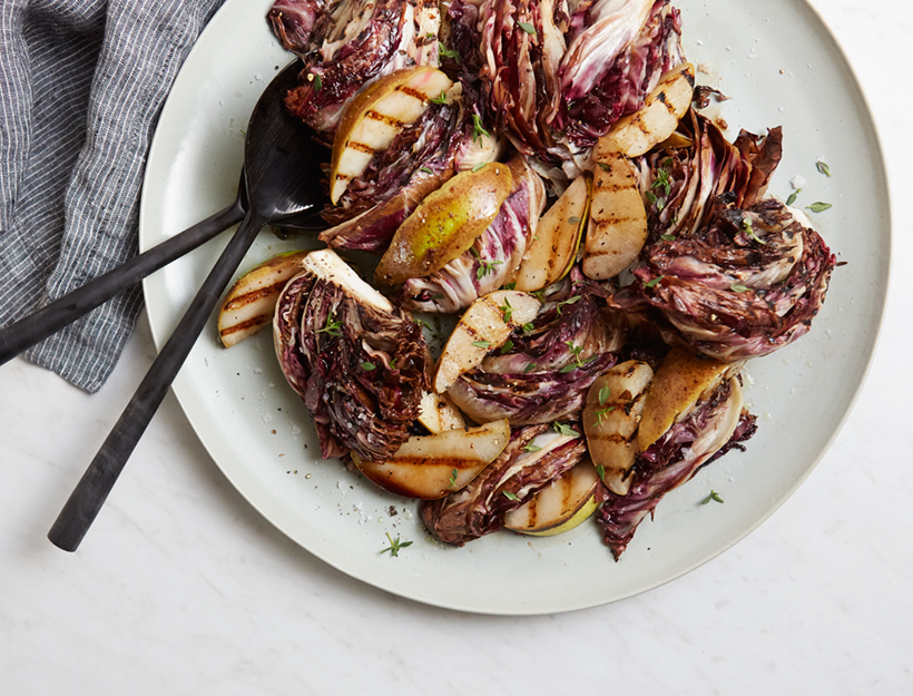 Grilled Radicchio & Pear Salad