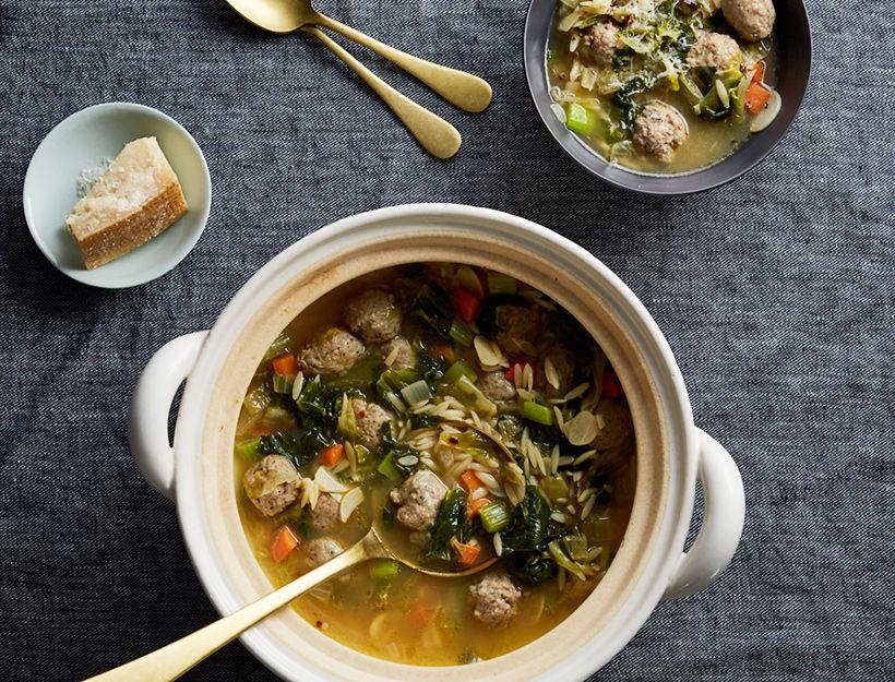 Italian Wedding Soup Recipes.Donabe Italian Wedding Soup