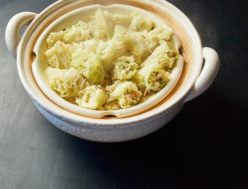 Cabbage-Wrapped Shrimp Shumai