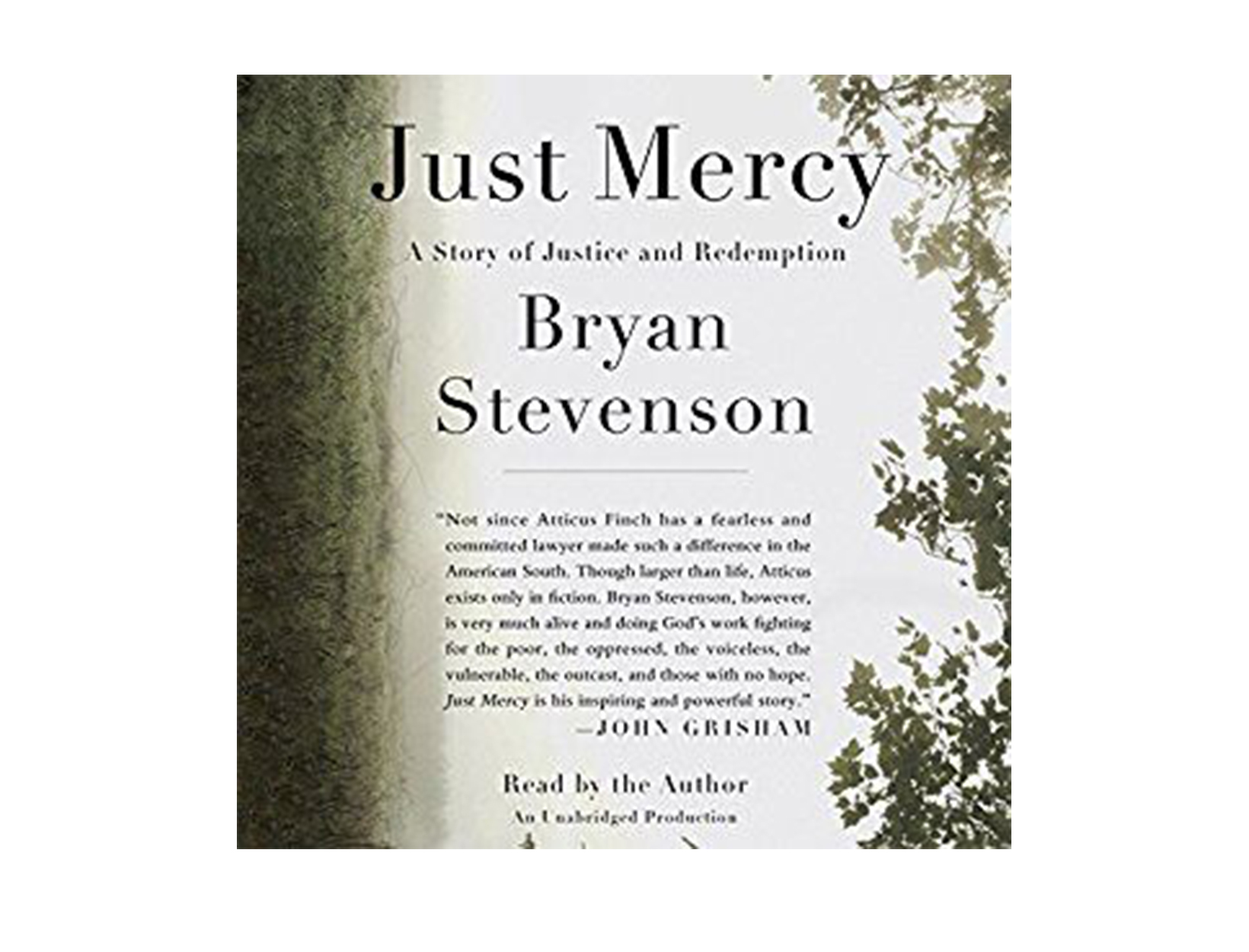 Just Mercy, written & read by Bryan Stevenson