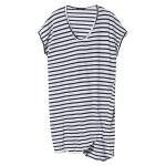 Striped Boxy T-Shirt Dress