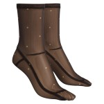 Sheer Nylon Polka Dot Socks