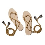 Bo Lace-Up Flat Sandals