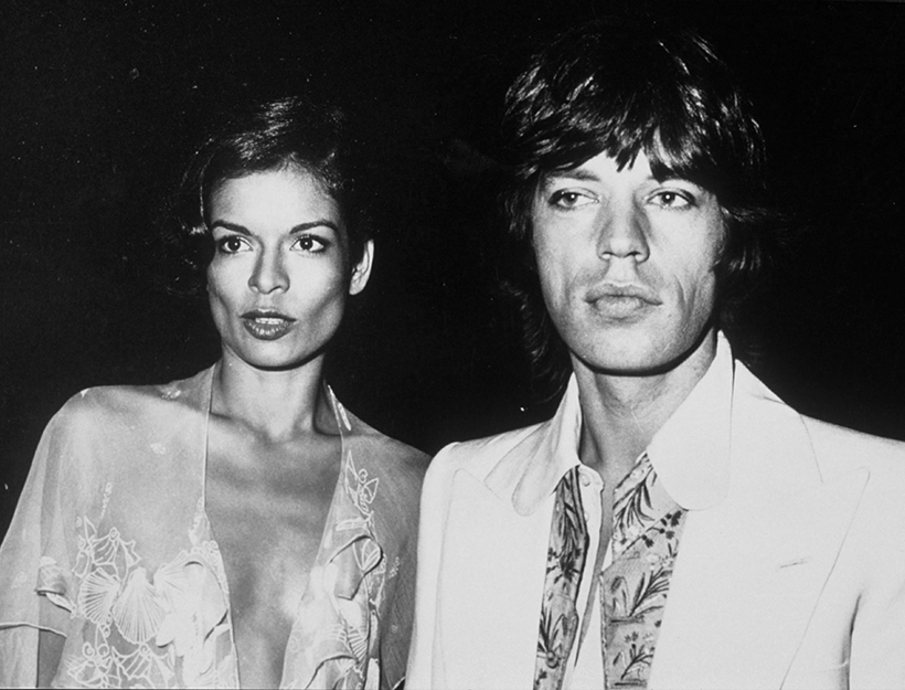 Mandatory Credit: Photo by Nick Rogers/REX/Shutterstock (201735b) MICK AND BIANCA JAGGER Rolling Stones Party, Blenheim Palace, Britain - 1973