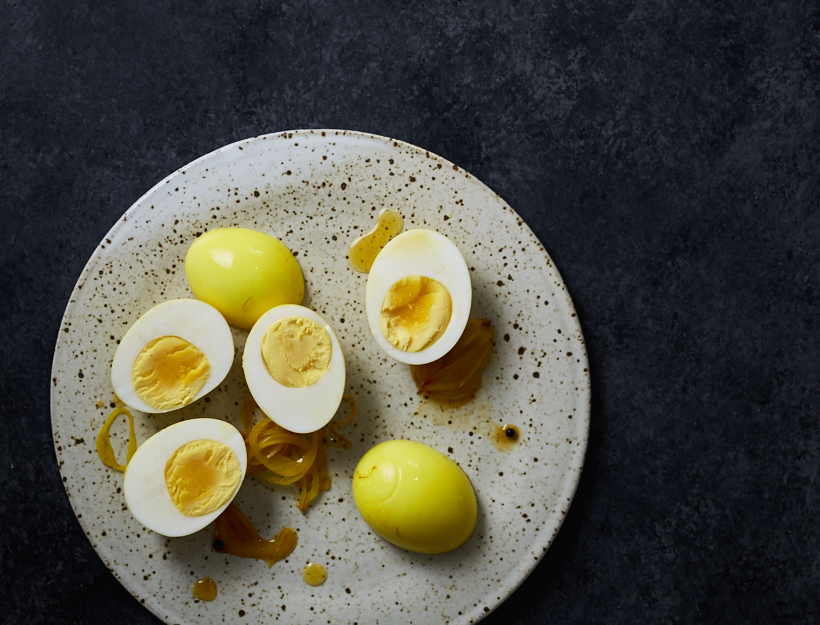 From The Goop Kitchen Turmeric Pickled Eggs Goop