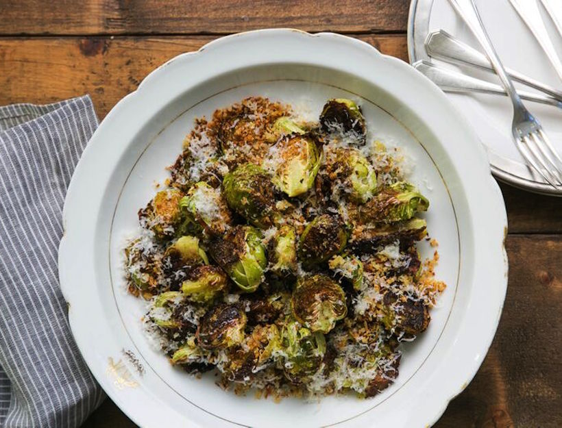 Oven-Fried Brussel Sprouts