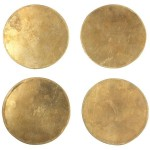 Solid Brass Coasters Set of 4