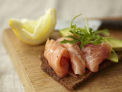 Smoked Salmon/Sardines/Sliced Avocado on Gluten-Free Bread