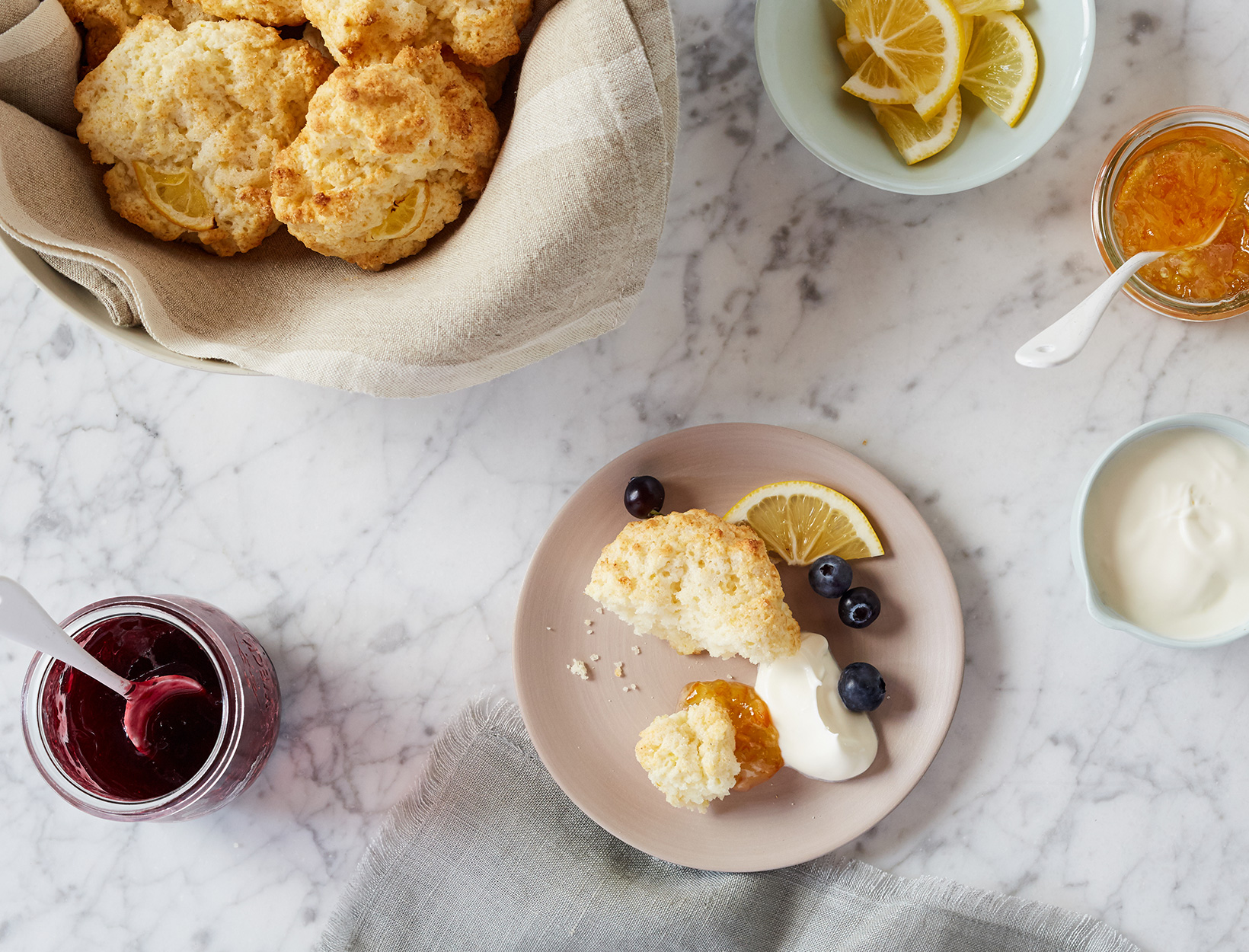 Gluten-Free Drop Biscuits with Lemon Zest