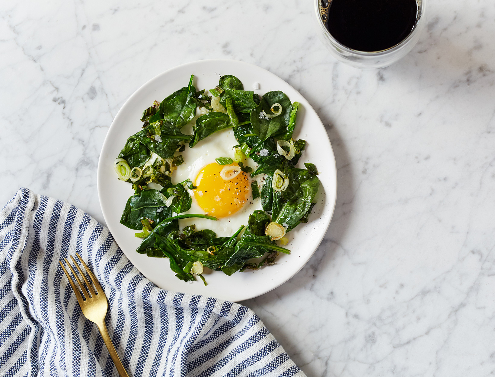 One-Pan Egg and Greens
