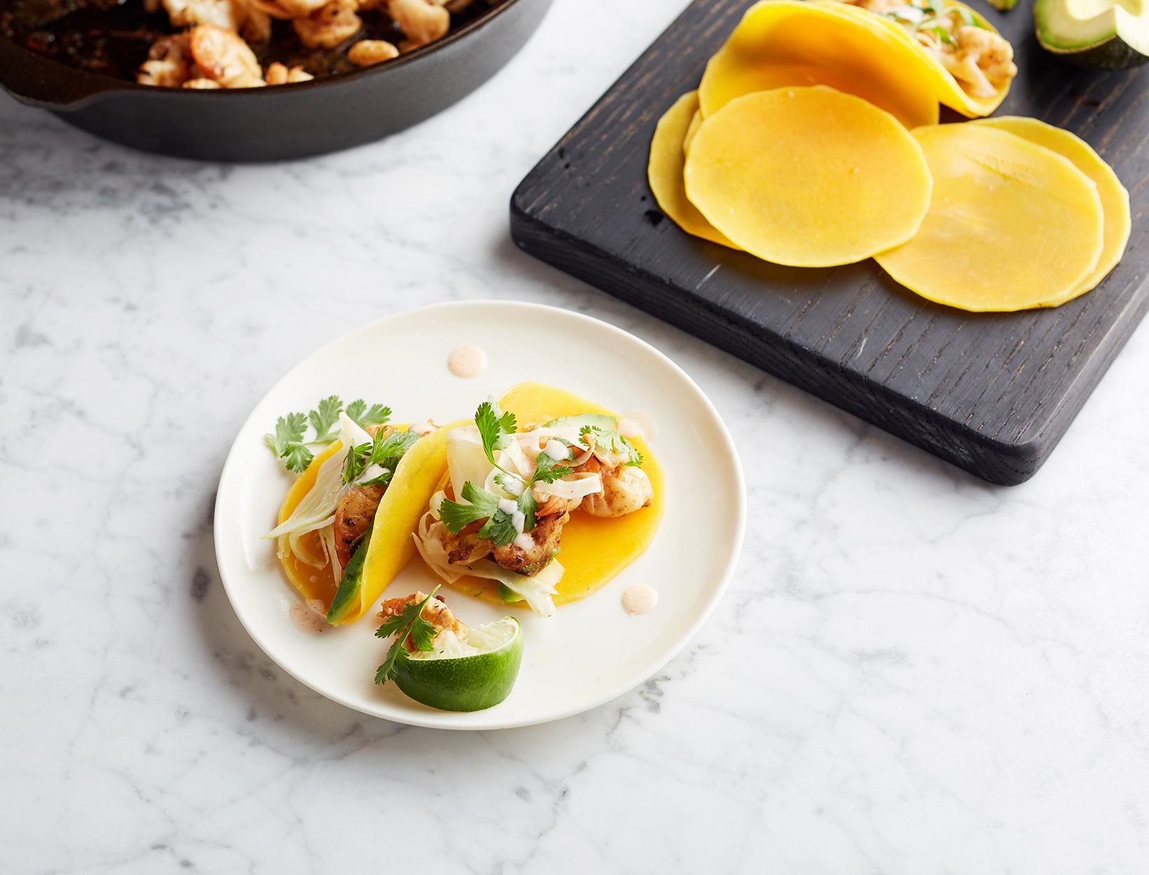 Butternut Squash Shrimp Tacos