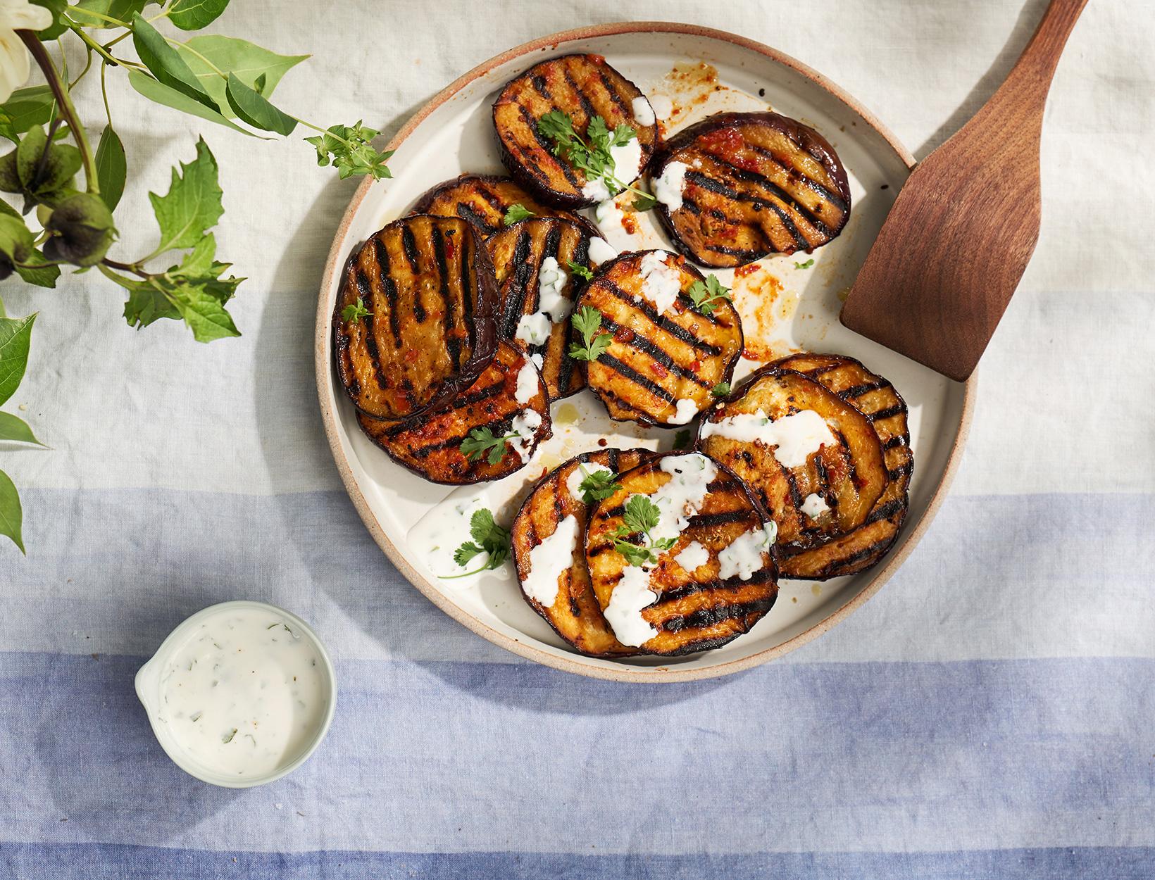 Harissa Grilled Eggplant
