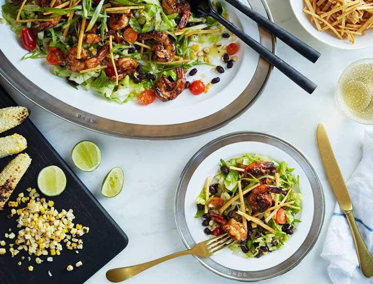 Blackened Mexican Shrimp Salad