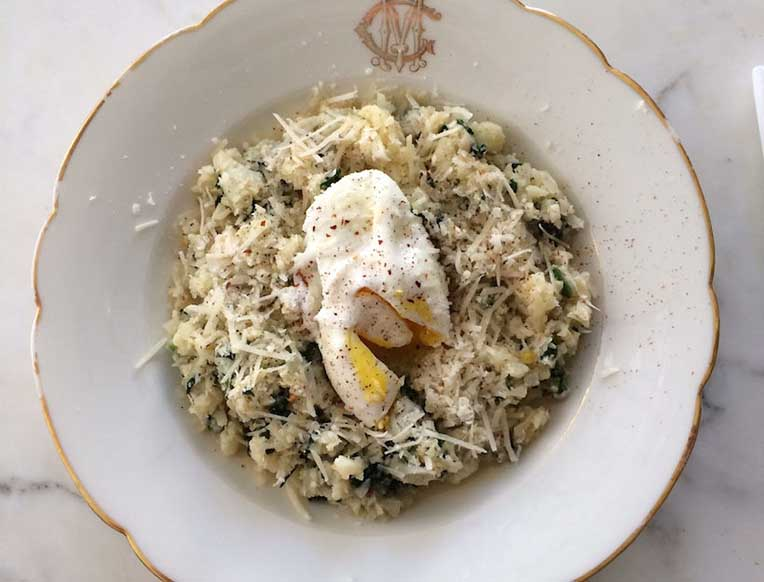 """Cauliflower and Spinach """"Risotto"""""""