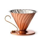 Copper Pour Over With Brass Handle