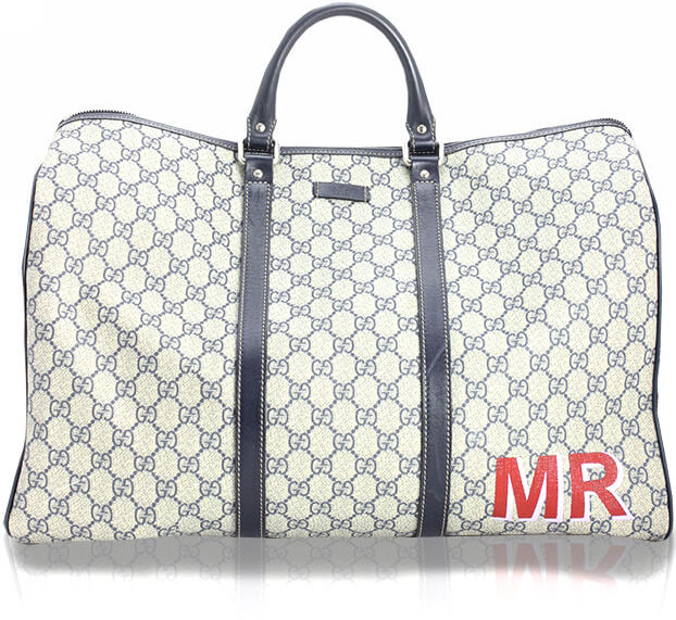 42520dc6f2032a GUCCI Duffle Two Color Lettering DTLA Custom, Price upon request