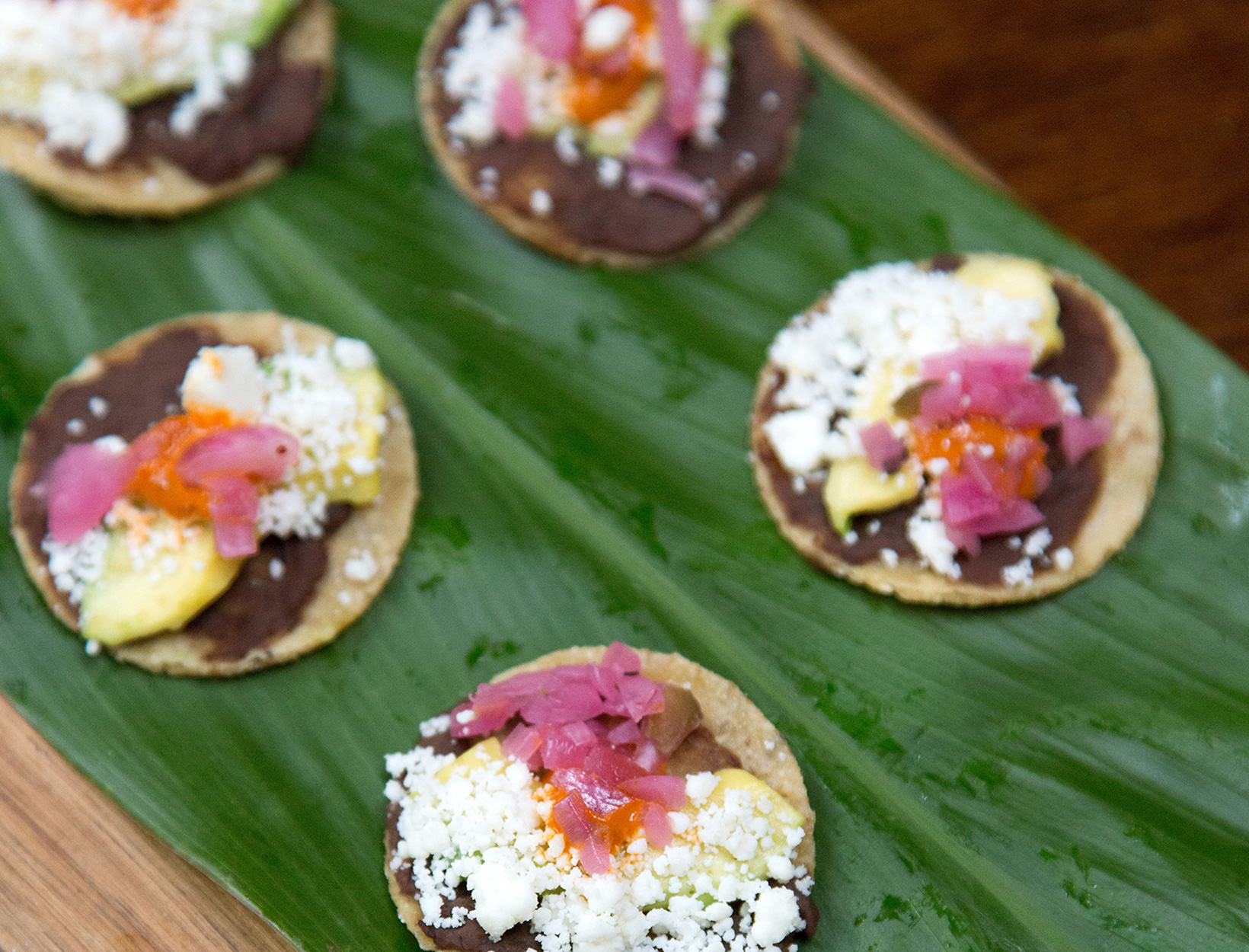 Avocado Tostadas with Pickled Red Onions