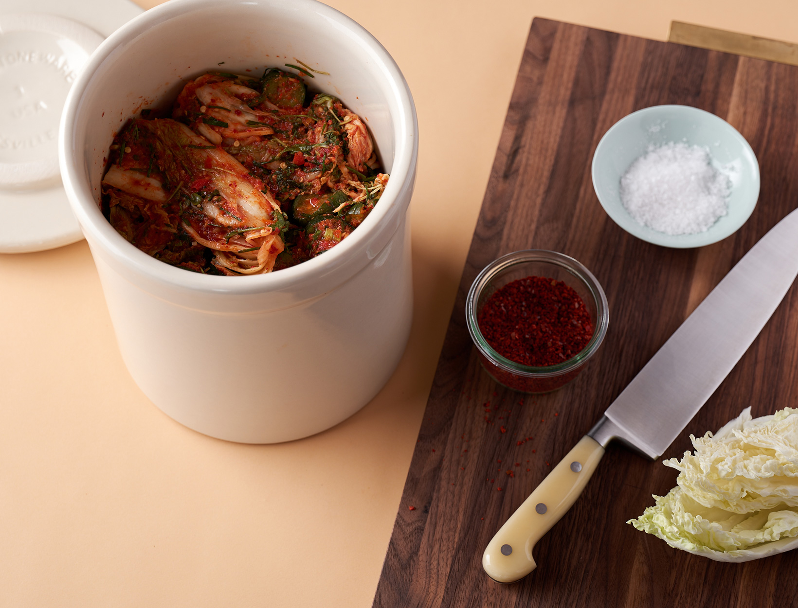 Napa Cabbage and Cucumber Kimchi