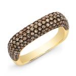 Champagne Diamond Square Ring