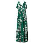 Violeta Floral-Print Gown