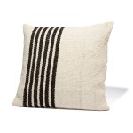 Left Stripe Black Pillow