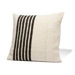 Left Stripe Black Pillow