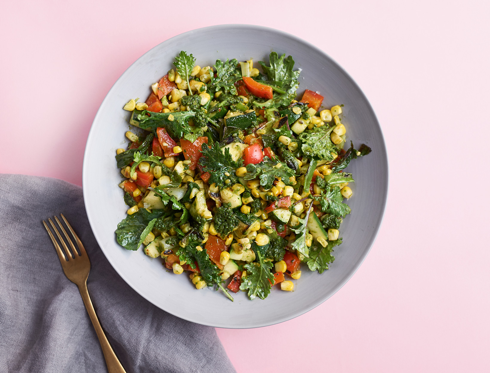 Grilled Veggie Salad with Chermoula