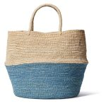 Two-Tone Straw Bag