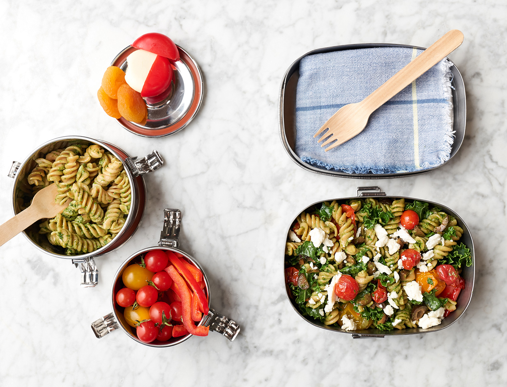 Double-Duty Kale Pesto Pasta