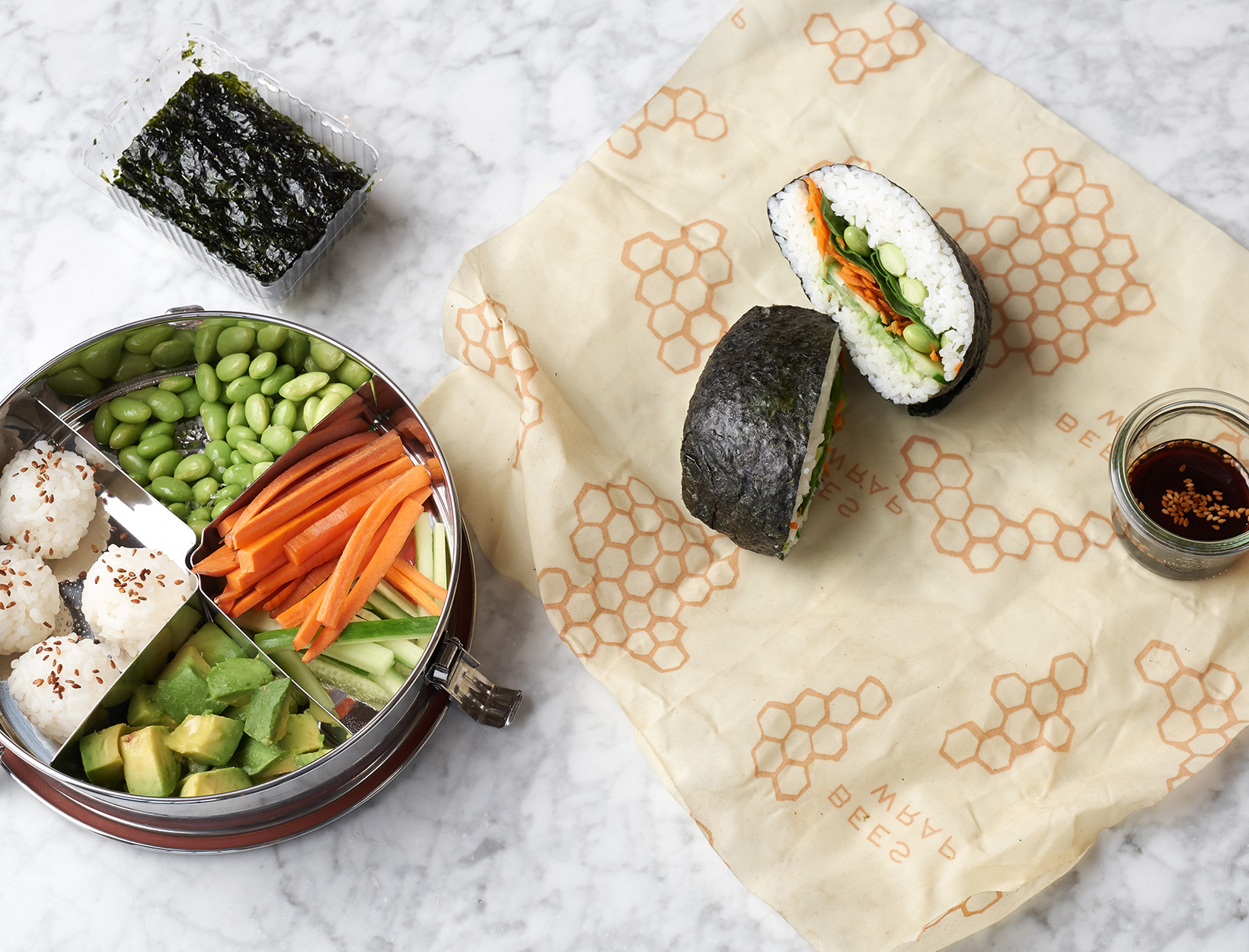 Double-Duty Sushi Lunch