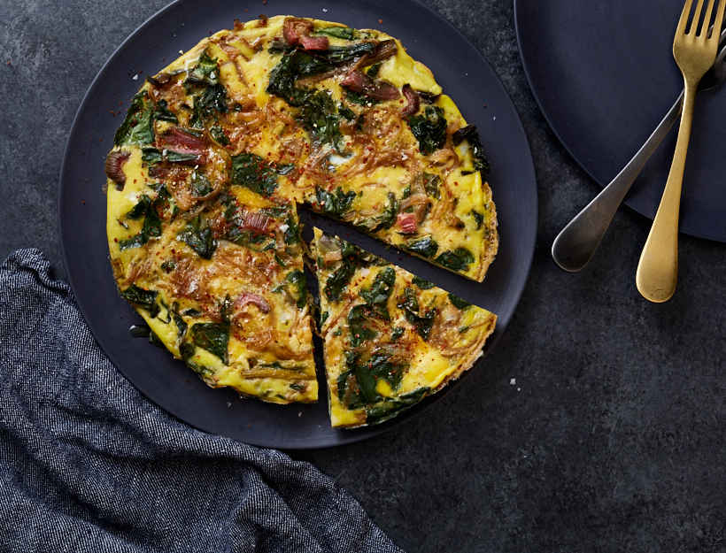 Frittata with Caramelized Onions and Greens