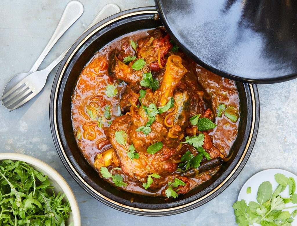 Lamb Tagine with Tomatoes, Saffron, and Cinnamon Recipe | Goop