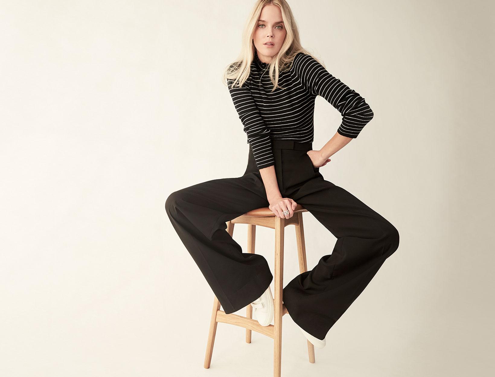 8f2ec44baa9d Fashion Uniform: Turtleneck + Wide-Leg Pants + Sneakers | Goop
