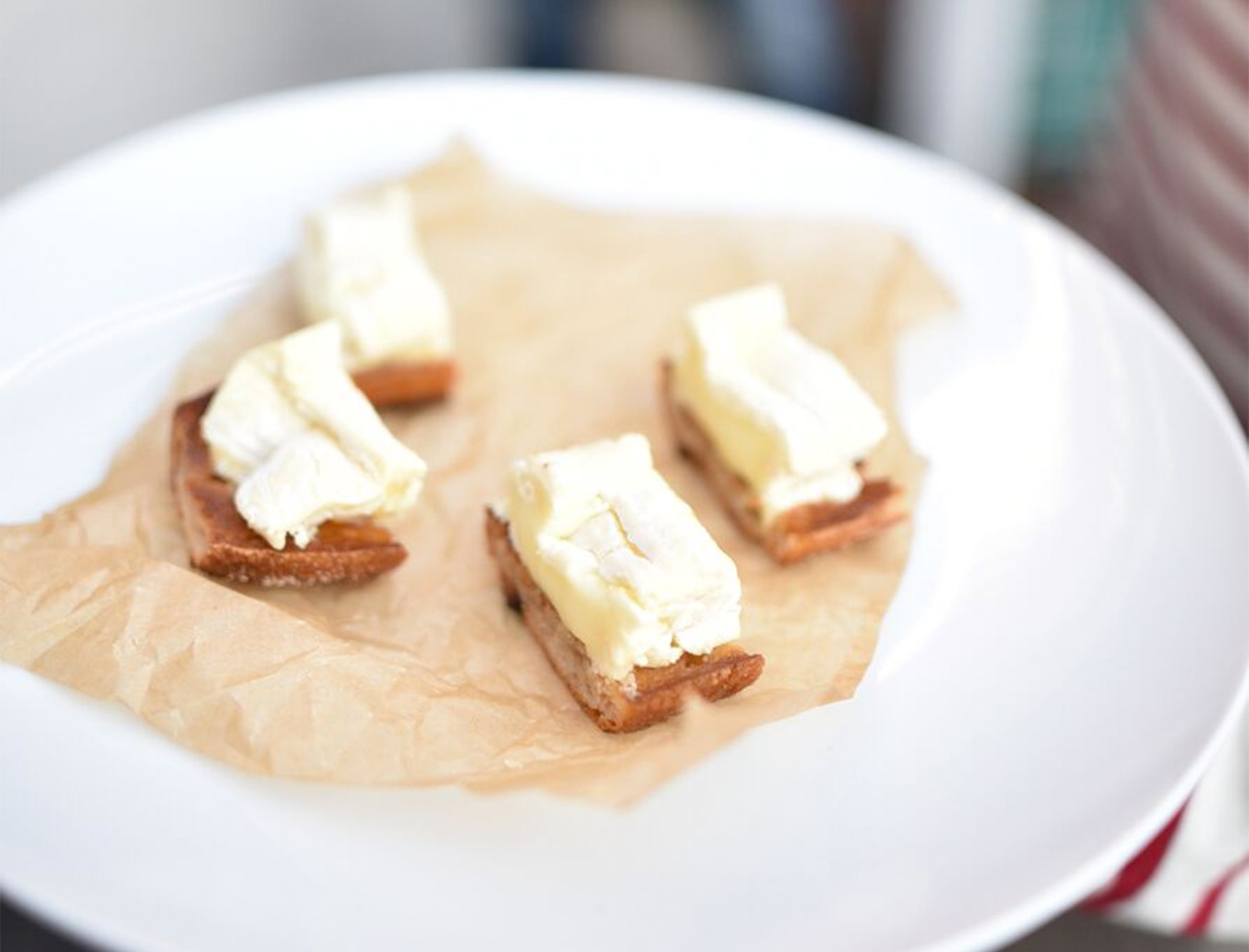 Toasted Baguette with d'Affinois and Bordier Butter